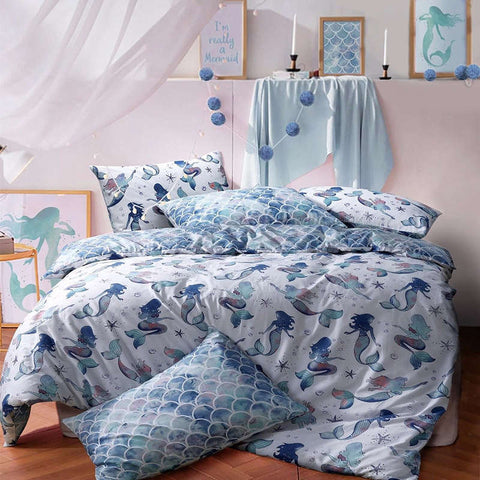 Pieridae Mermaid Single Duvet Cover Quilt Cover Luxury Bedding Set