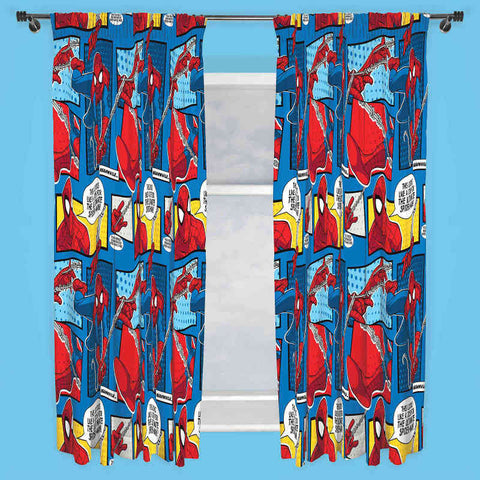 Spiderman Webhead Ready Made Curtains 66 x 72