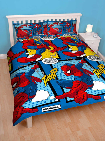 Spiderman Webhead Double Duvet Cover Set Polyester Front