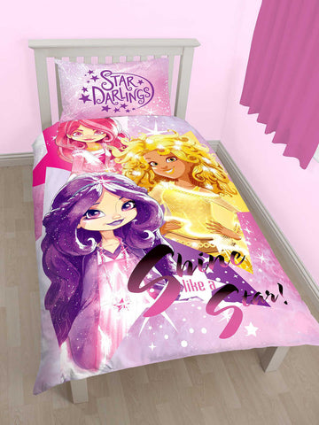 Star Darlings Shine Single Duvet Cover Set Polycotton Front