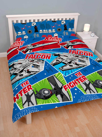 Star Wars Craft Double Duvet Cover Set Polyester Front