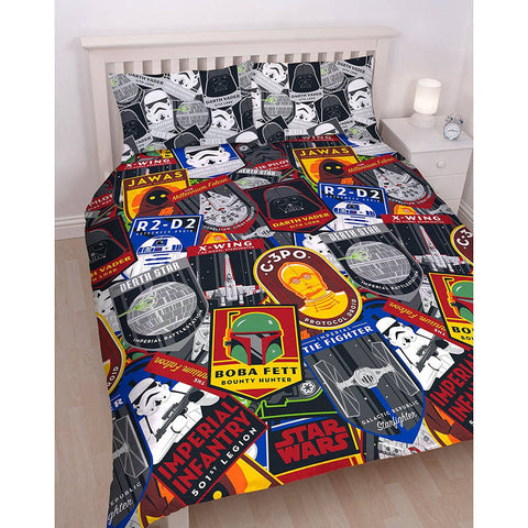 Star Wars Patch Double Duvet Cover Set Polyester Front