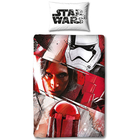 Star Wars The Last Jedi Spawned Single Duvet Cover Set Polycotton Front