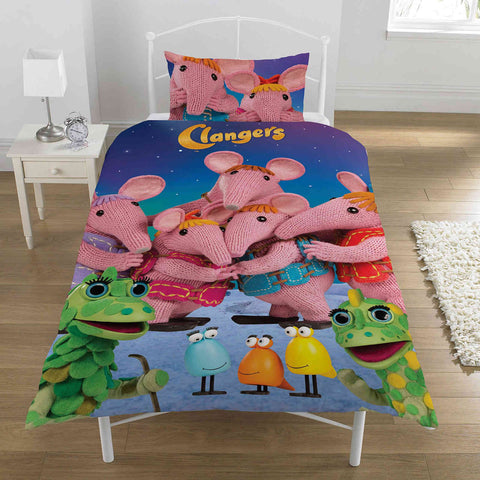 Clangers Single Duvet Cover Set Polycotton