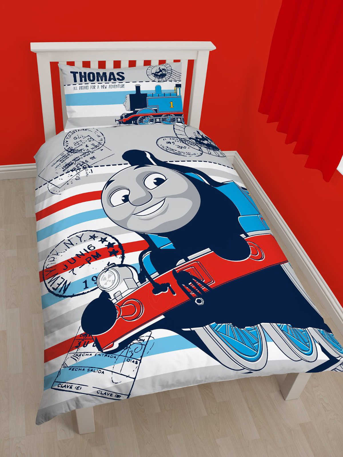 Thomas Adventure Single Duvet Cover Set Front Polycotton. Thomas Adventure Single Duvet Cover Set Polycotton  20 85 Free UK