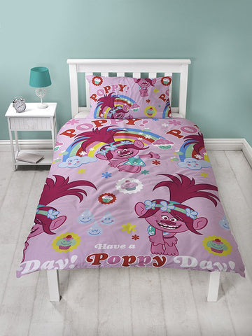 Trolls Dreams Single Duvet Cover Set Polyester Front