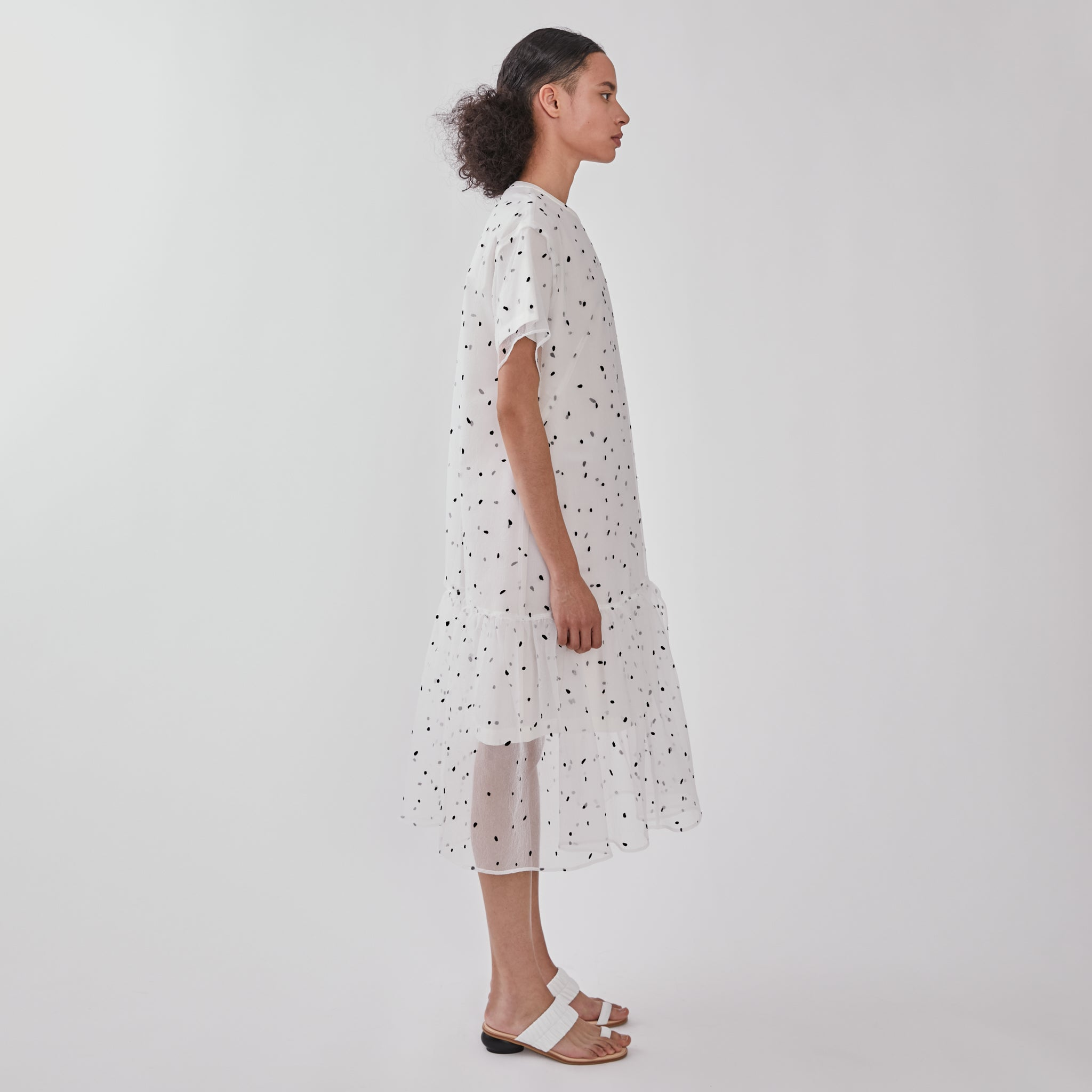 Layered flocky organza dress WH