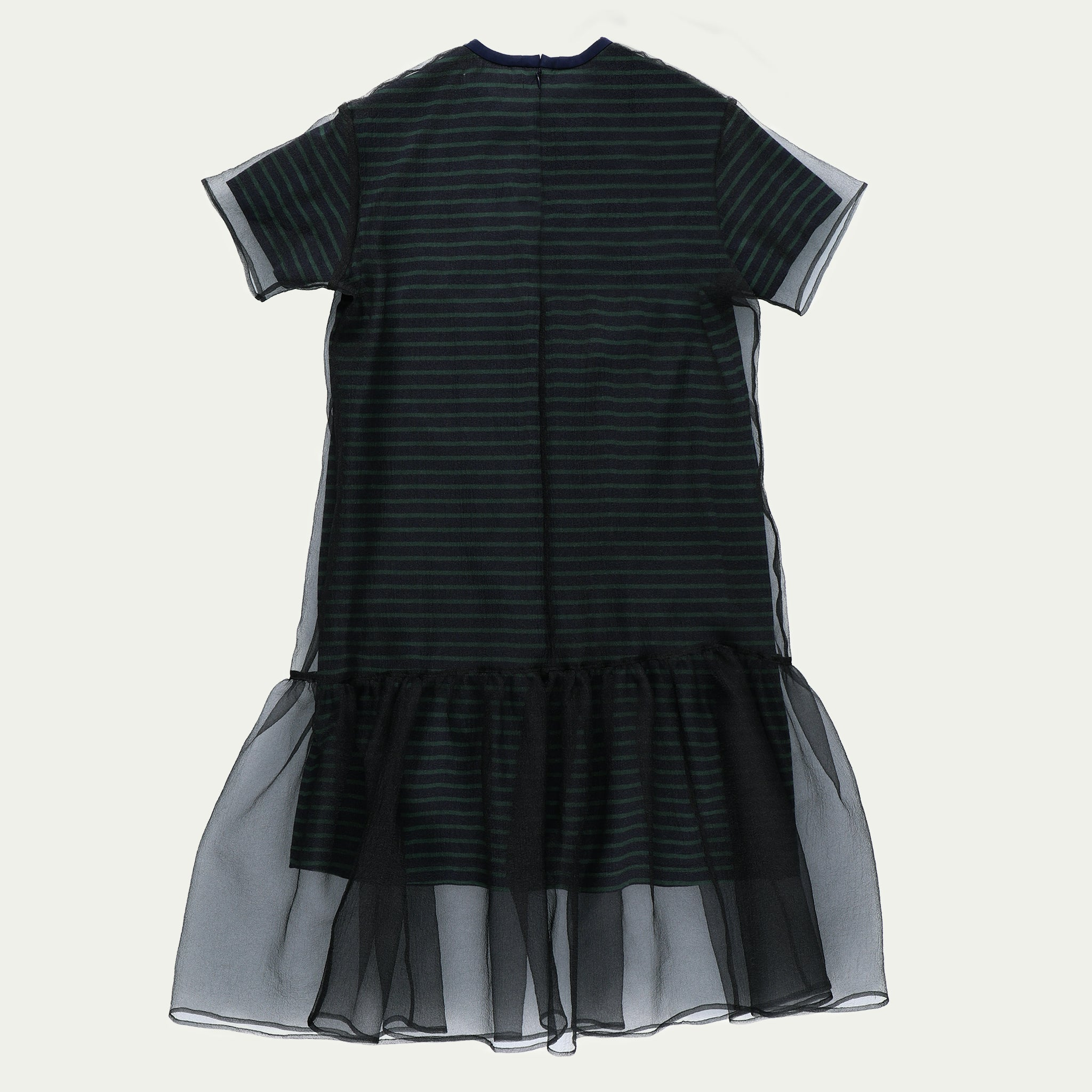 LAYERED ORGANZA DRESS NVGR