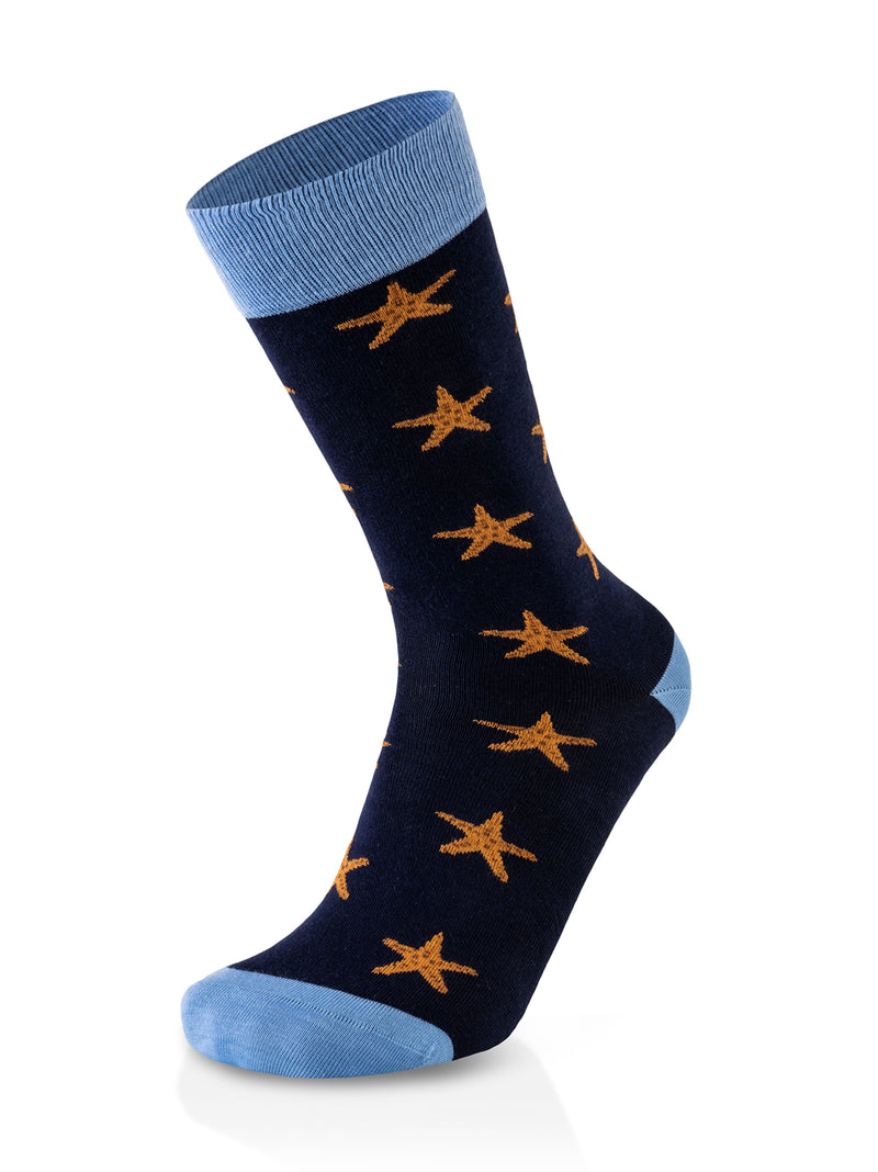 Eco Style Starfish Blue Socks