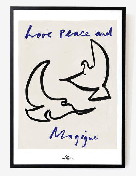 Love Peace and Magique A3 Print