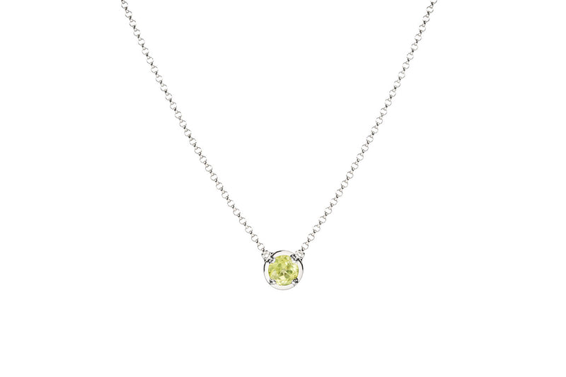 Peridot August birthstone necklace