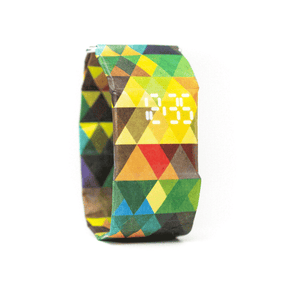 Colorful Triangles Classic Watch