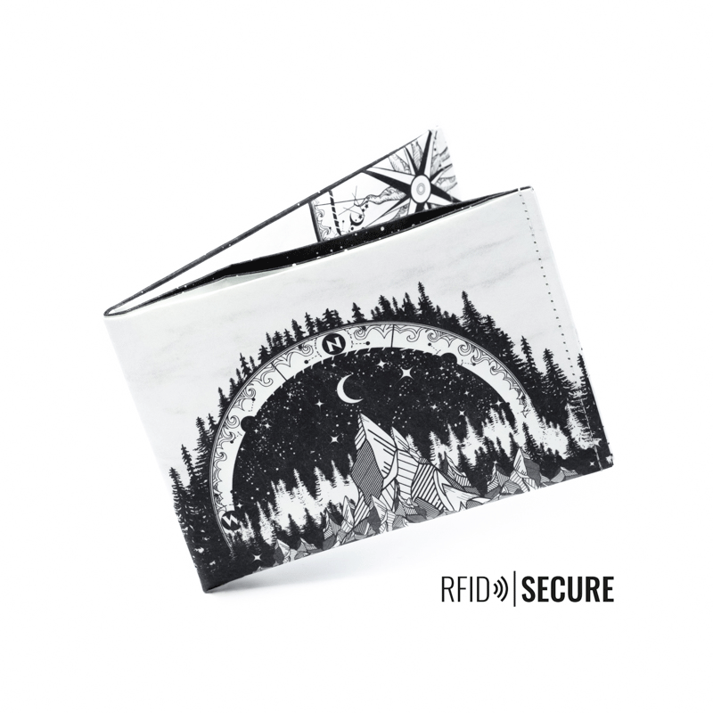 Wallet RFID Secure - Midnight Forest