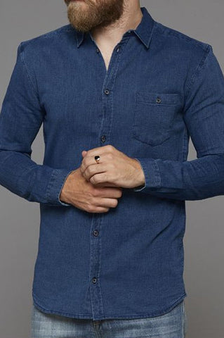 Deon Shirt Indigo Blue, Clothing Men, Suit - Six and Sons
