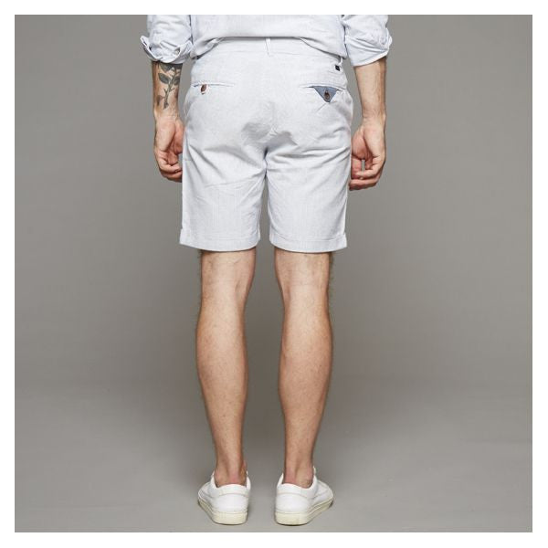 Filip Shorts Light Blue White Stripe, Clothing Men, Suit - Six and Sons