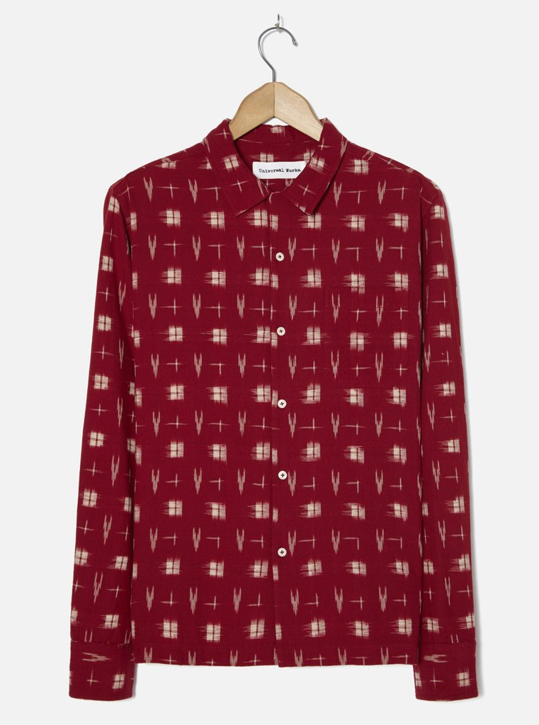 Red Ikat Garage Shirt