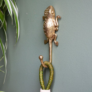 Ashanti Brass Hook Frog