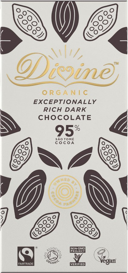 Organic 95% Rich Dark Chocolate - 80g