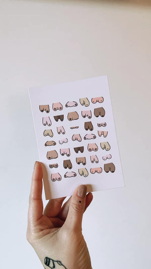 Titties Postcard A6