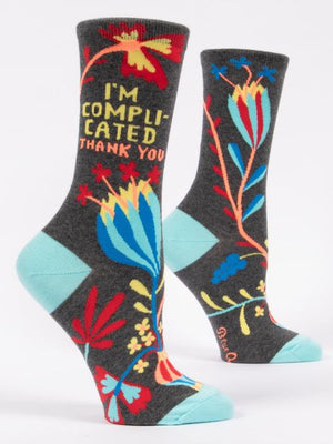 I'm Complicated. Thank you. W-Crew Socks