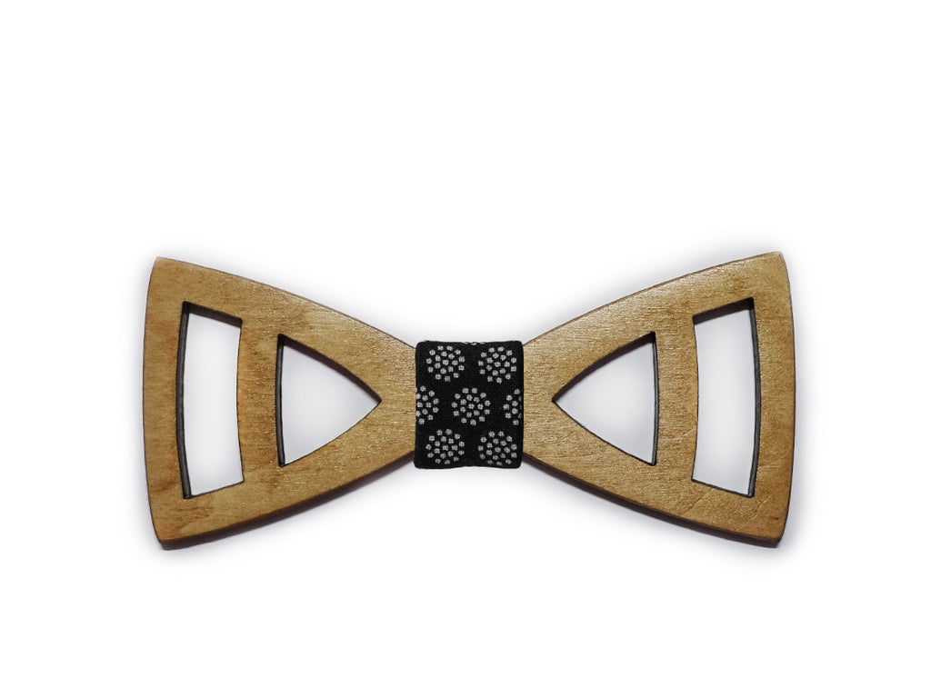 Wooden bow-ties with cut-outs (various styles)