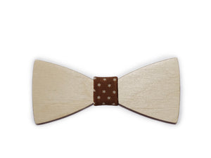 Double and plain solid wooden bow-ties (various colours)