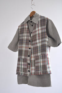 Menswear Vest in Colourful Tartan