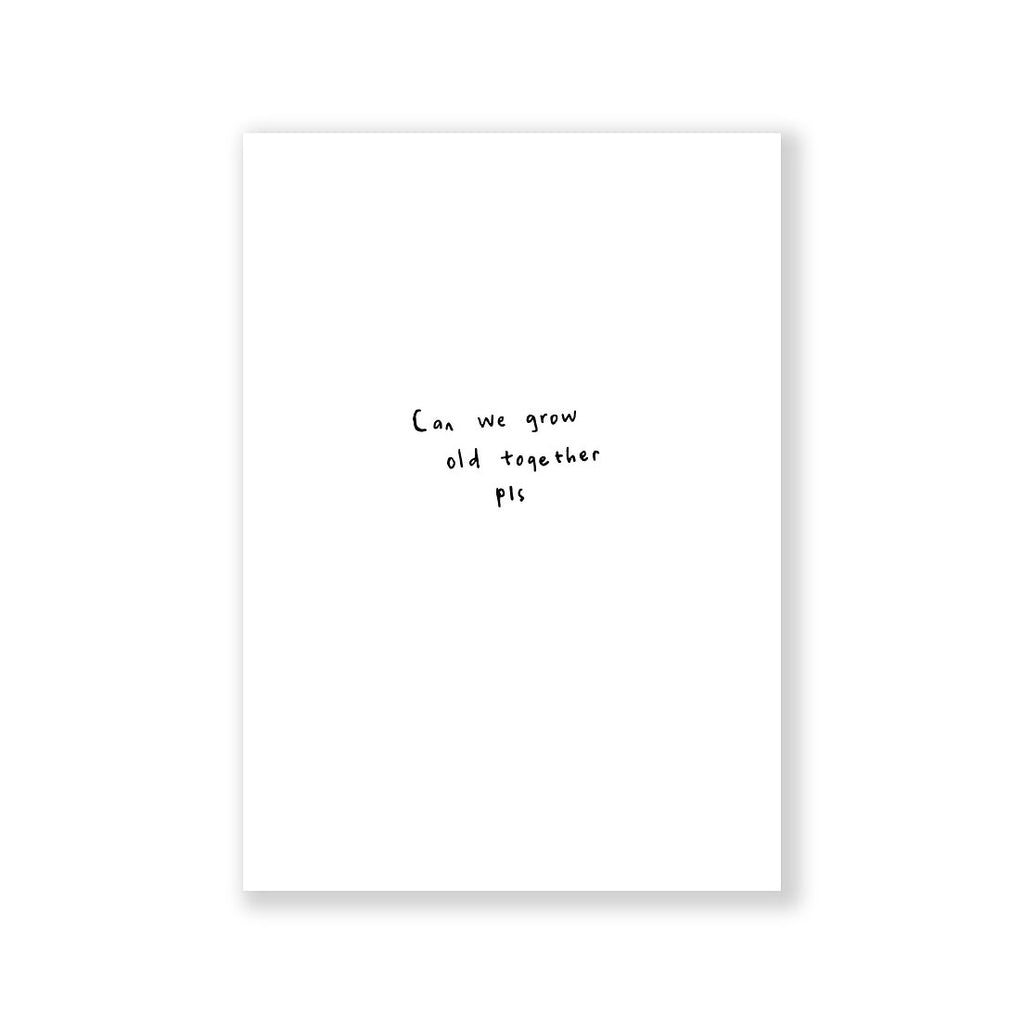 Can we grow old together greeting card A6