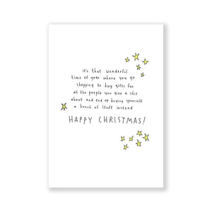Wonderful time of year Christmas greeting card A6