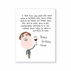 Happy birthday though Greeting Card A6