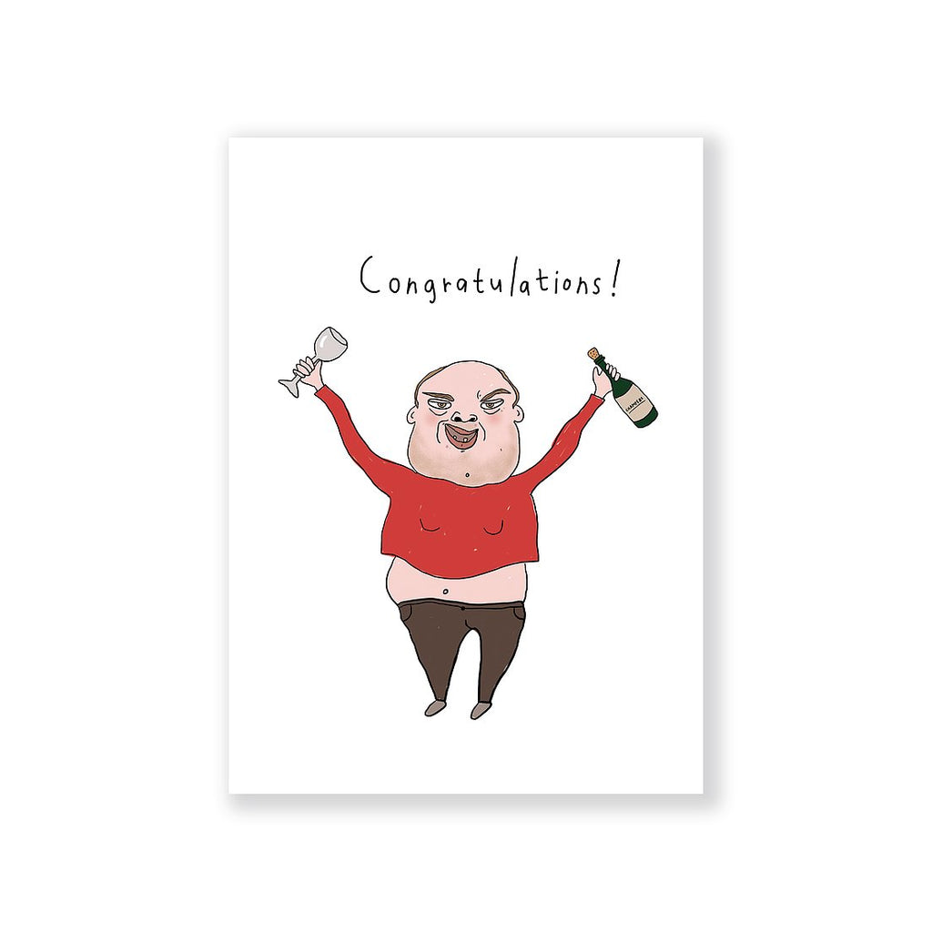 Congratulations Man Greeting Card A6