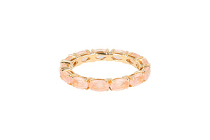 Eternity rose quartz ring