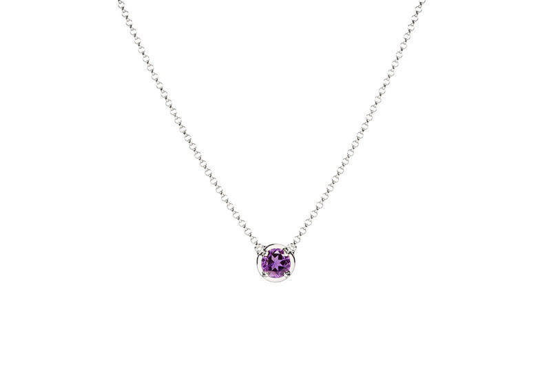 Amethyst February Birthstone necklace