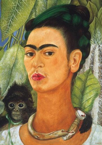 SELF PORTRAIT WITH MONKEY (KAHLO)