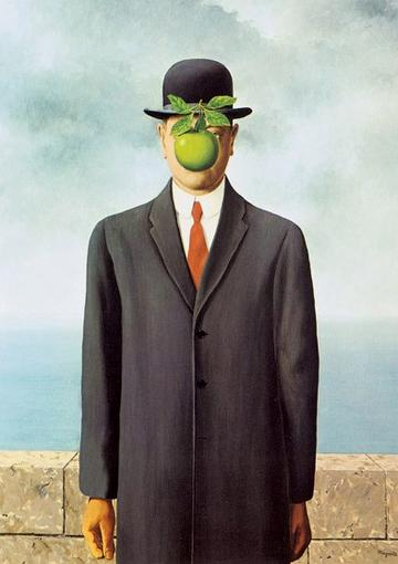 THE SON OF MAN (MAGRITTE) ART CARD