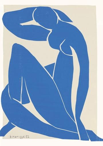 BLUE NUDE II (MATISSE) ART CARD
