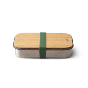 Stainless Steel Sandwich Box with Bamboo Lid Orange 0,9l - 22x15x5,2cm