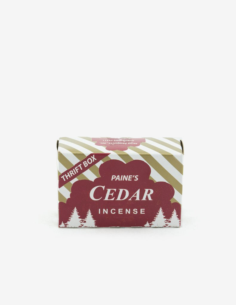 Cedar Incense 50 cones & holder