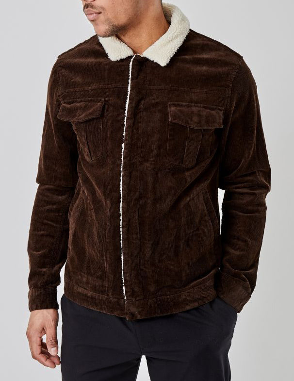 Eik Corduroy Dark Brown Jacket