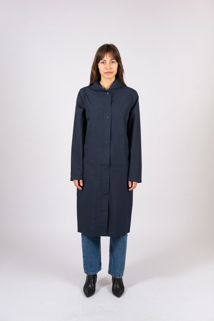 The Long Tube Parka Navy