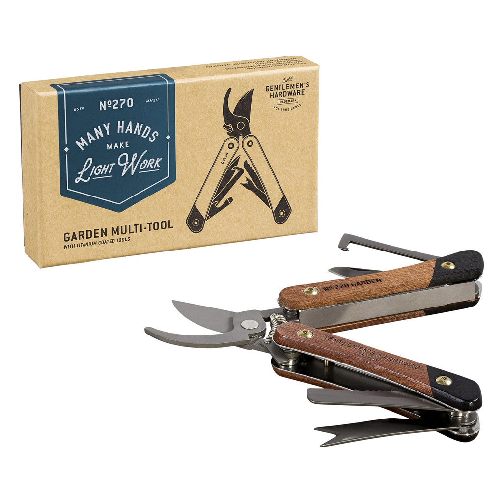 Garden Multi-Tool Wood Handles & Titanium Finish