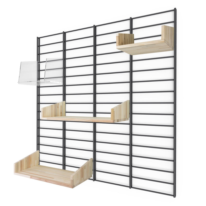 "Sustainable wall rack FENCY - ""M"" (80x80 cm)"