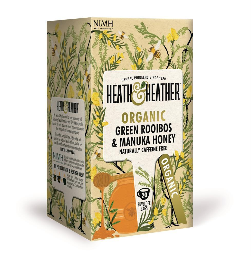 Organic Green Rooibos with Manuka Honey (20 Bags)