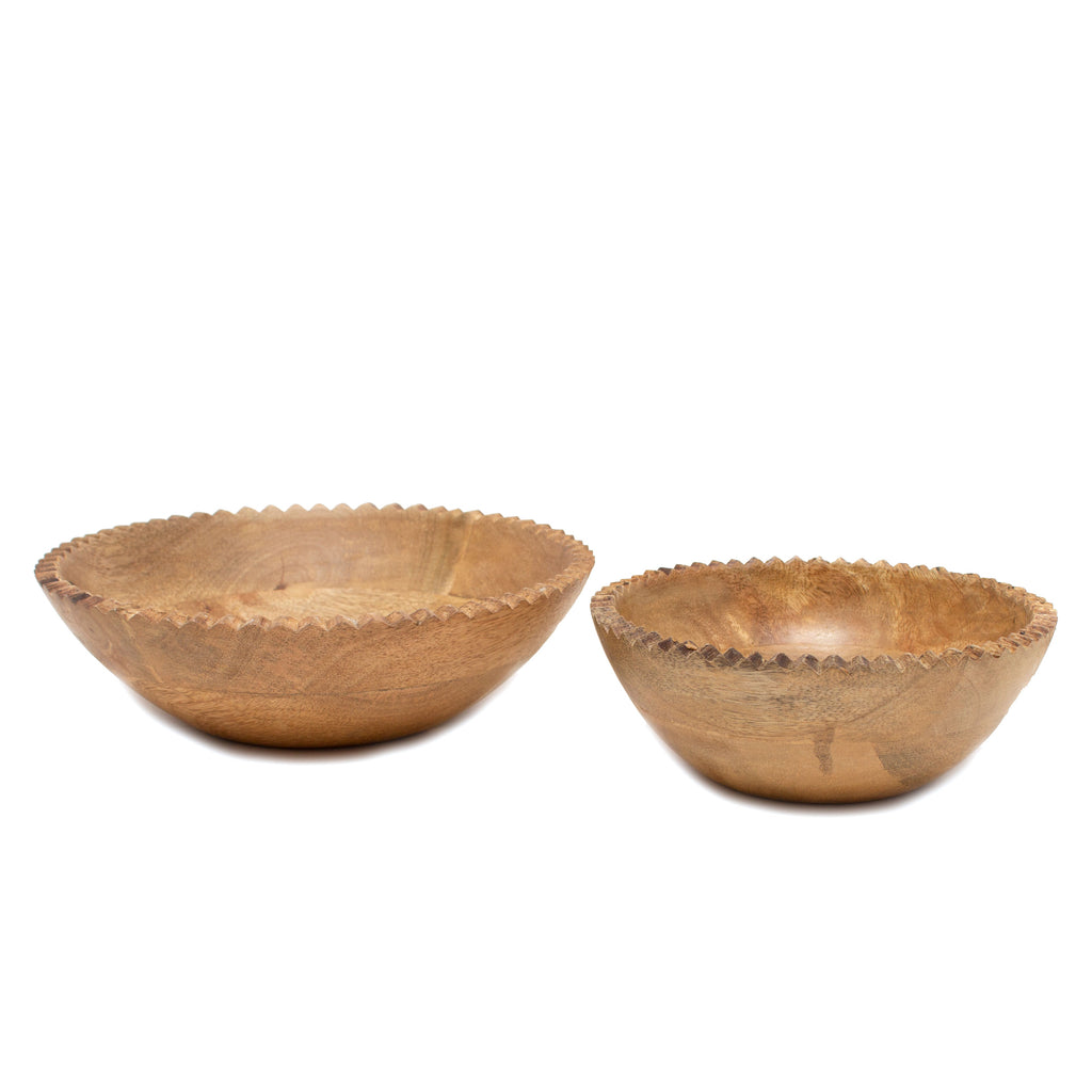 Mango Wood Monkey Puzzle Bowl