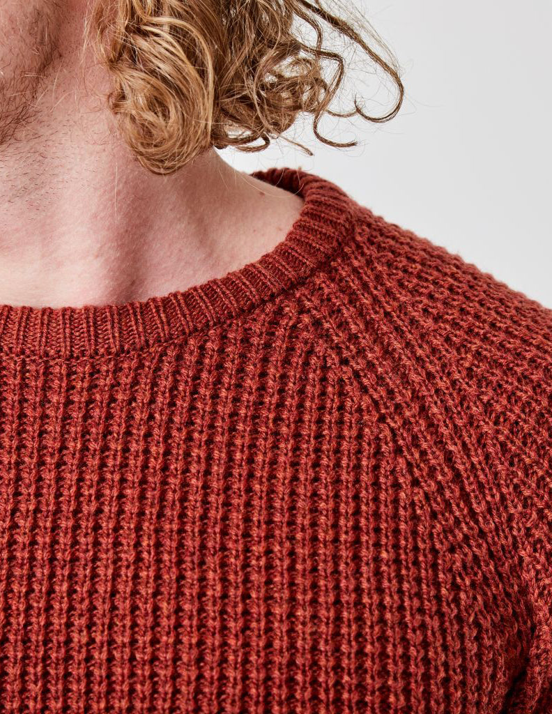 Iron Waffle Knit Dusty Red