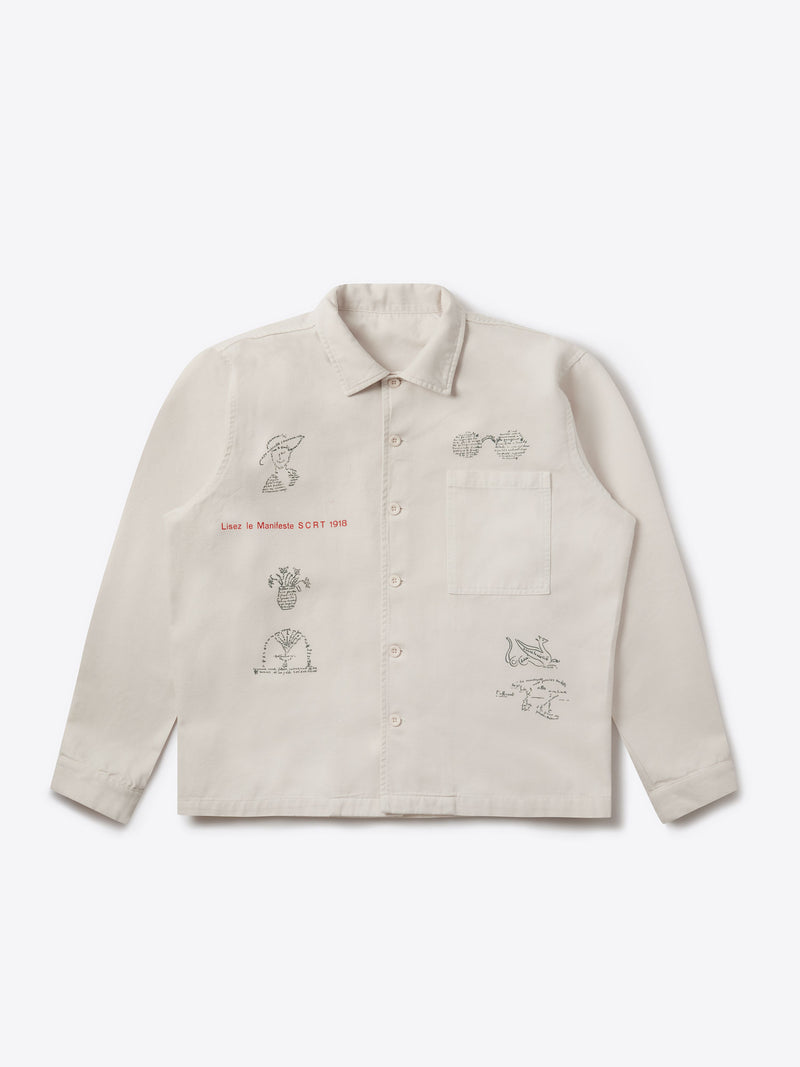 Dada Poetry Overshirt Cream