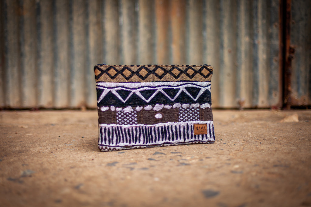 Khoisan Pattern Utility Case - iPad / Clutch / Accessories