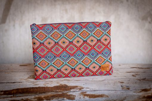 Pink Xhosa Pattern Utility Case - iPad / Clutch / Accessories