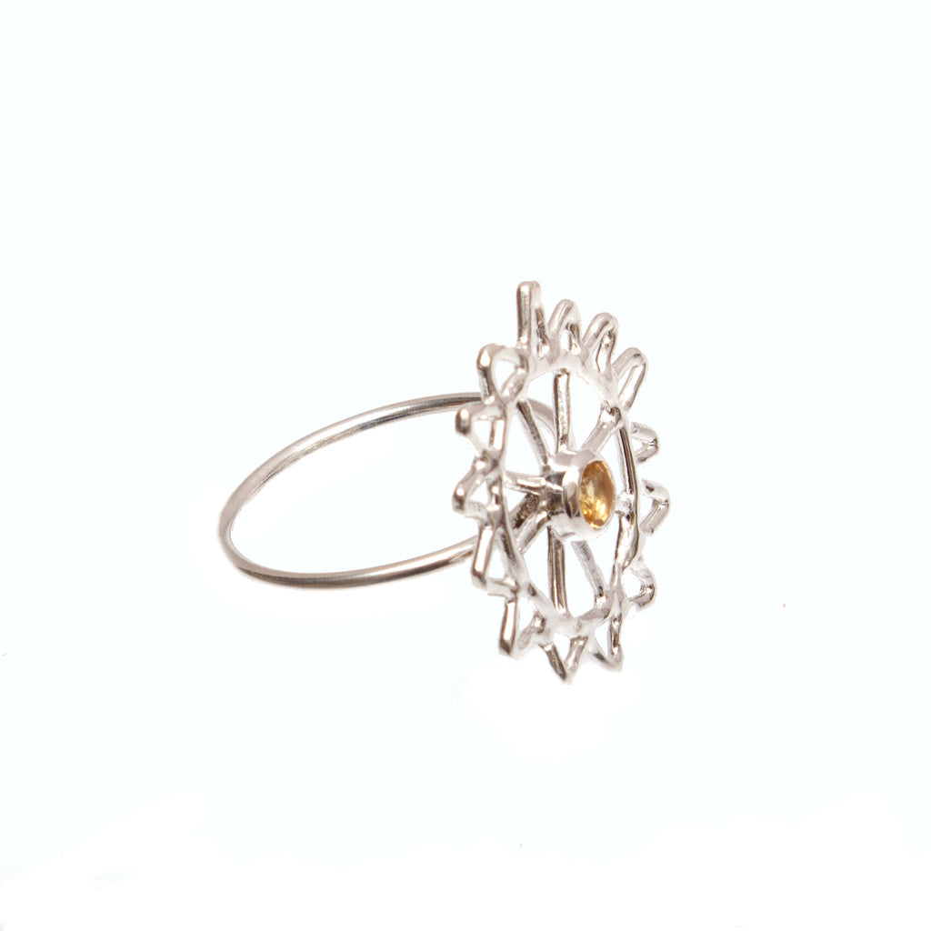 Silver Monkey Puzzle Ring