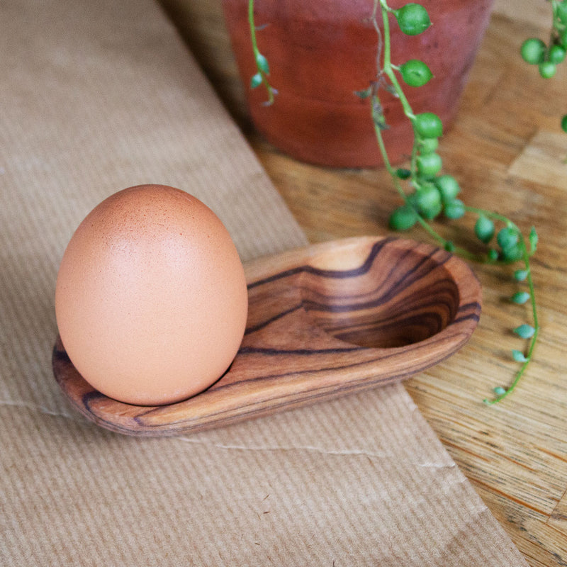 Wild Olive Wood Salt & Spice / Double Egg Cup